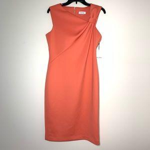 Calvin Klein NWT Asymmetric Neck Sheath Dress